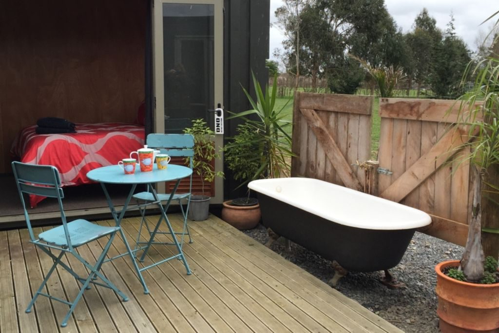 Outdoor of your container house Otaki - Staytopia