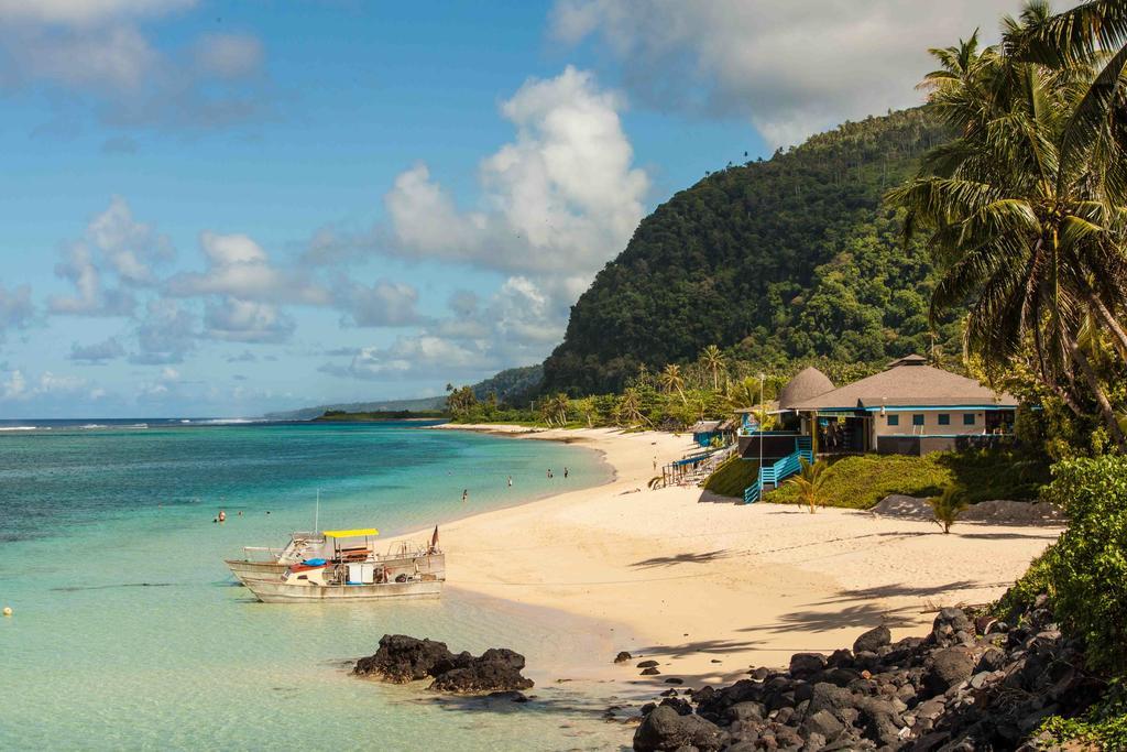 Litia Sini Fales Samoa at the beach