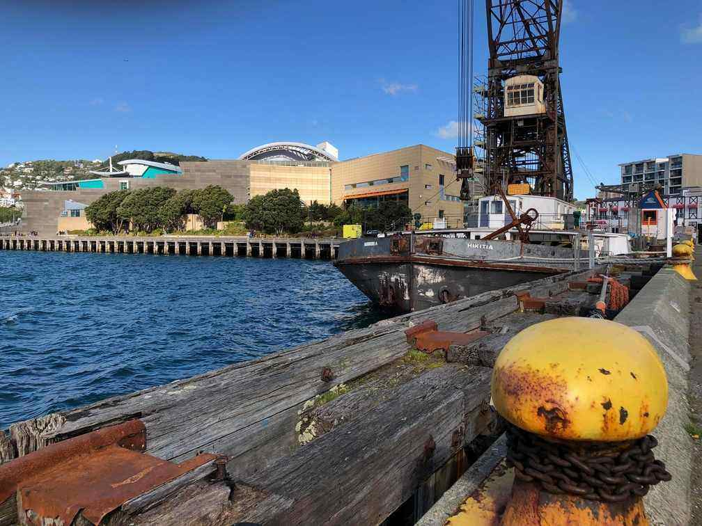 Historic barge and Te Papa