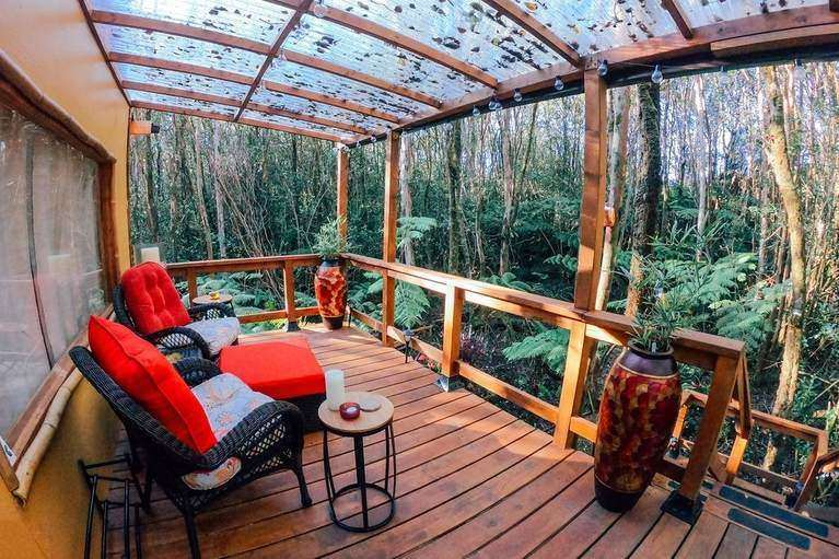 Eco-friendly tree house in Volcano Hawaii