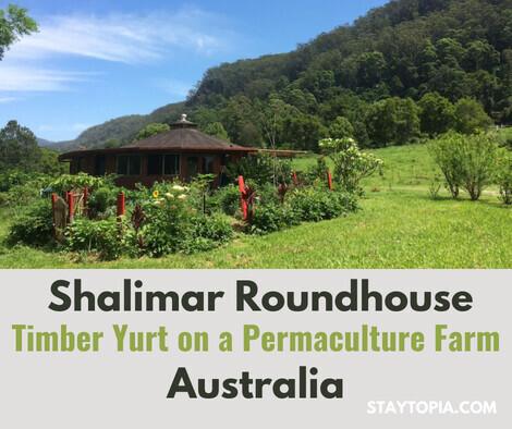 The Shalimar Roundhouse Timber Yurt - Eco Accommodation NSW