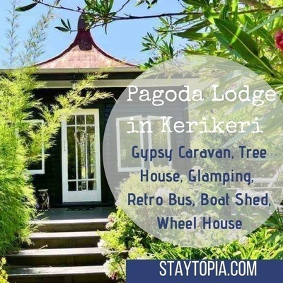 Pagoda Lodge in Kerikeri - unique accommodation in New Zealand