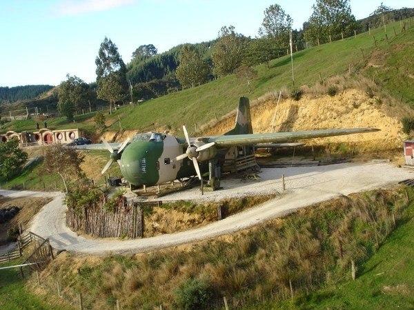 Hobbit House Hotel in New Zealand - Woodlyn Park Plane