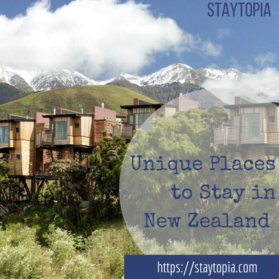 Unique accommodation in New Zealand