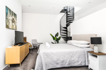 Bryon Butter Factory Apartments Bedroom - Quirky Places to Stay in Byron Bay
