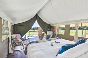 Glamping Byron Bay King Size Bed - Glamping Northern Rivers NSW