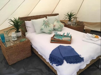 Glamping Byron Bay inside tent - Glamping Northern NSW