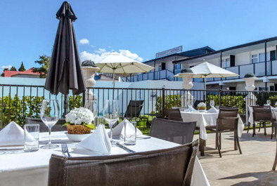 Regent of Rotorua Boutique Hotel Dining Outdoors - Unique and Boutique accomodation in Rotorua