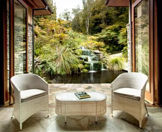 Treetops Lodge Rotorua waterfall - unique and boutique accommodation in Rotorua