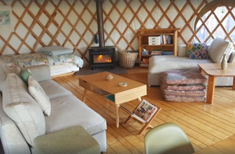Treehouse Yurt Retreat Interior - Motueka Eco Accommodation