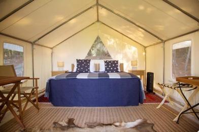 The Camp - Lake Hawea tent interior - Glamping in Wanaka