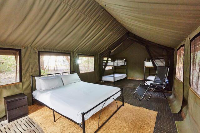 RAC Margaret River Nature Park Tent Interior