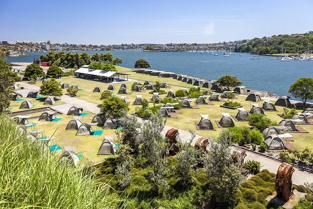 Cockatoo Island Glamping - unique Sydney Accommodation
