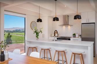 The Nineteenth Vineyard Accommodation Kitchen - winery accommodation in Blenheim